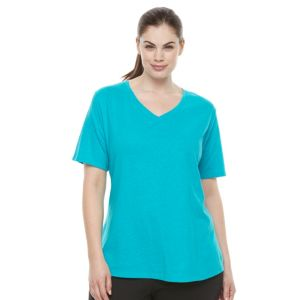 Plus Size Tek Gear® Easy V-Neck Workout Tee