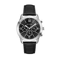 Bulova Men's Leather Chronograph Watch - 96A173