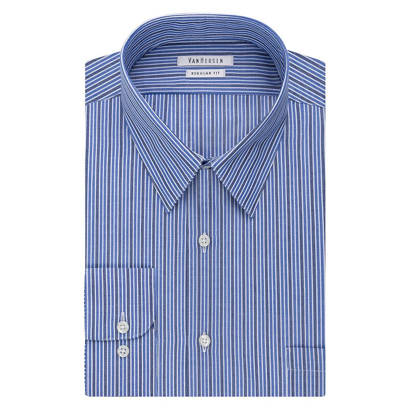 Men's Van Heusen Regular-Fit Striped Wrinkle-Free Dress Shirt