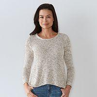 Petite SONOMA Goods for Life™ Shark-Bite Crewneck Sweater