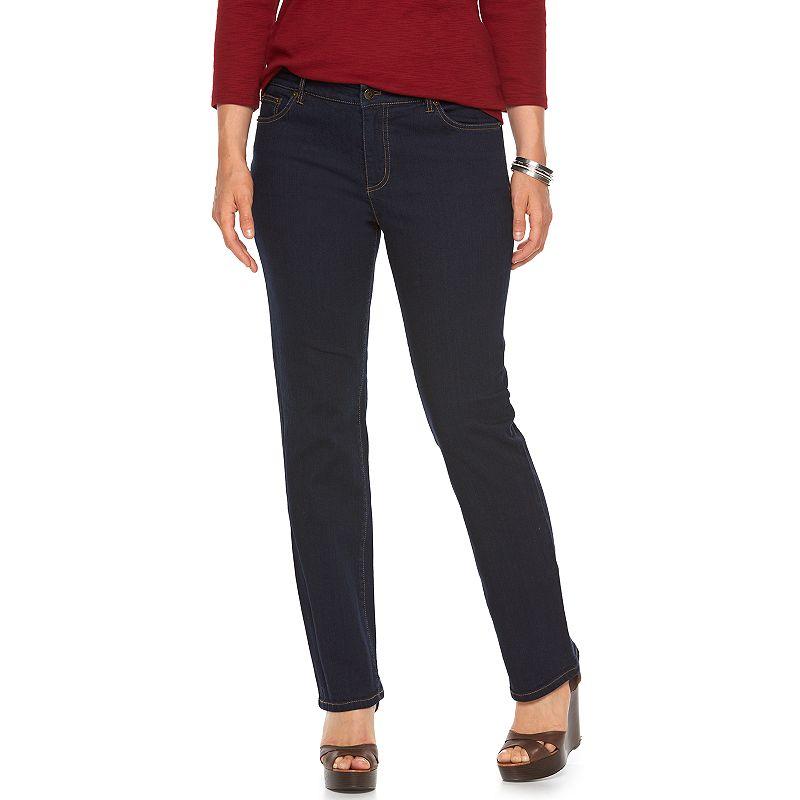 Plus Size Chaps Straight-Leg Jeans, Women's, Size: 16W SHORT, Blue