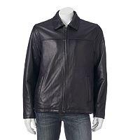 Men's Chaps Lambskin Leather Motorcycle Jacket