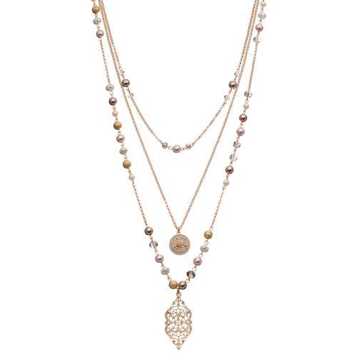 Croft & Barrow® Filigree & Medallion Layered Necklace