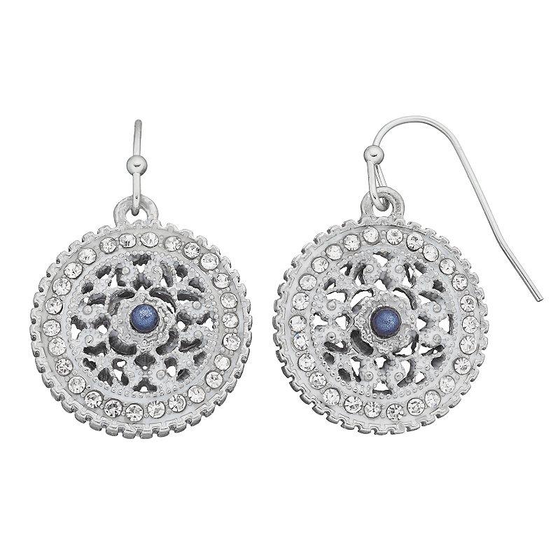 Croft & Barrow® Medallion Disc Drop Earrings