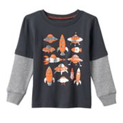 Toddler Boy Jumping Beans® Mock-Layered Thermal Long Sleeve Graphic Tee