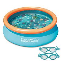 Blue Wave 7-Foot 3D Fast Set Round Family Pool