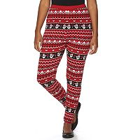 Plus Size US Sweaters Santa Fleece Leggings