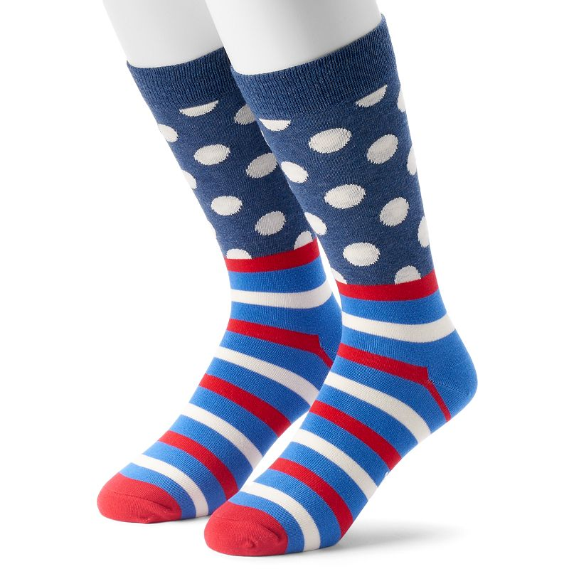 Men's HS by Happy Socks Striped & Dot Crew Socks
