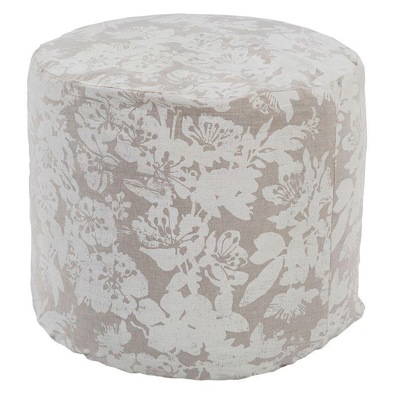 Decor 140 Cydista Linen Blend Pouf