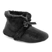 Isotoner Women's Velour Bootie Slippers