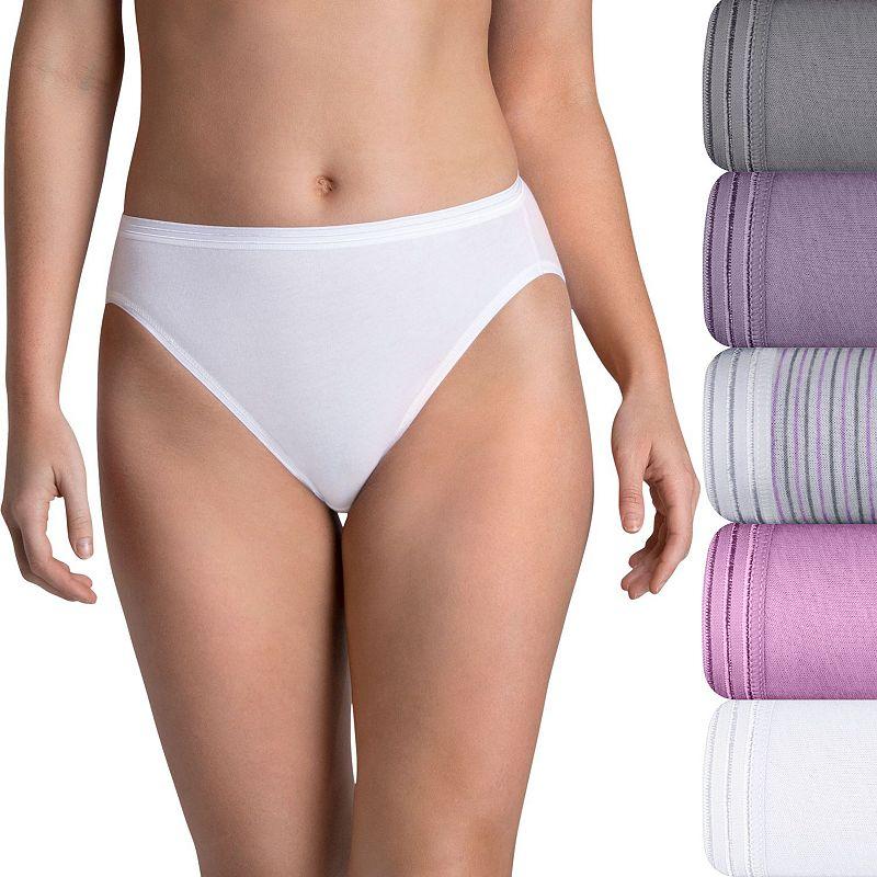 Fruit of the Loom 5-pack Ultra Soft Hi-Cut Panties 5DUSKHC
