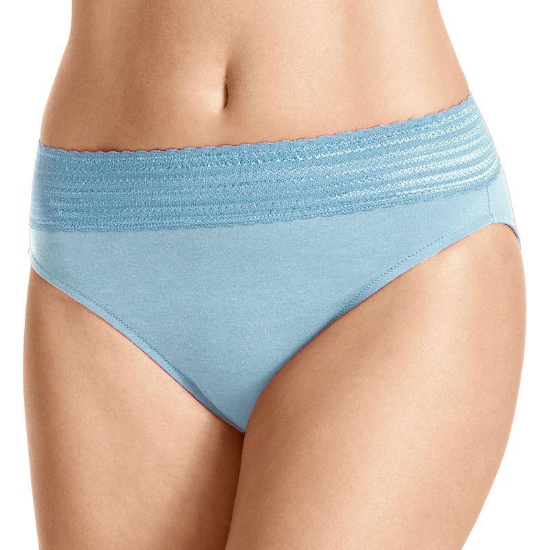 Warner's No Pinching. No Problems. Lace-Trim Cotton Hi-Cut Panty - Women's