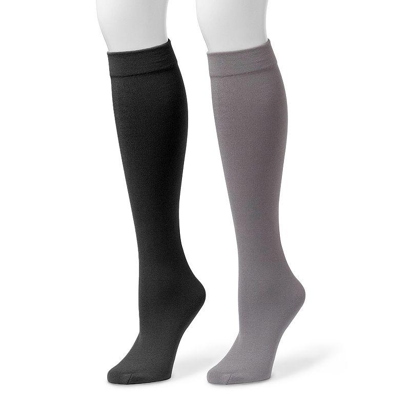 MUK LUKS 2-pk. Women's Fleece-Lined Knee-High Socks