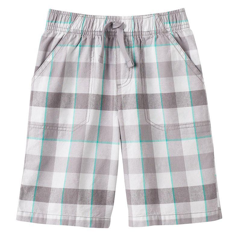 Boys 4-7x Jumping Beans® Open Plaid Shorts
