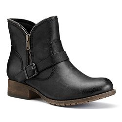 SO Women's Zipper Ankle Boots