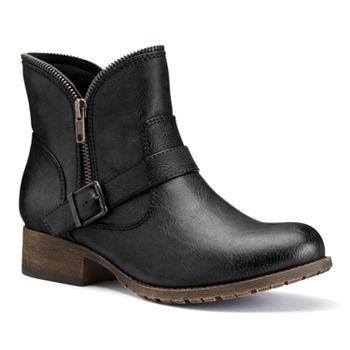 SO Women's Zipper Ankle Boots
