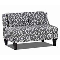 Carolina Accents Briley Trellis Armless Loveseat