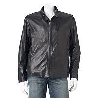 Men's Andrew Marc Calf Leather Racer Jacket