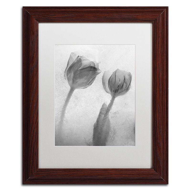 Trademark Fine Art Flowers on Ice-1 Framed Wall Art