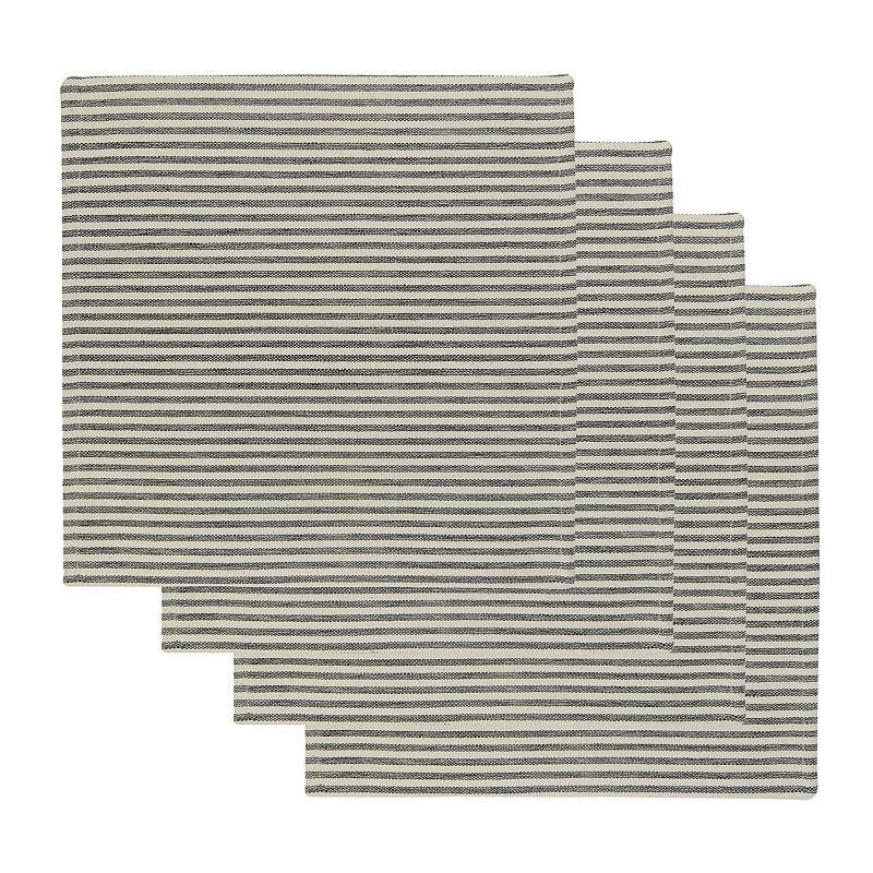 Park B. Smith Ticking Stripe Placemat 4-pk.