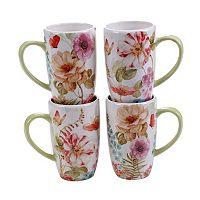 Certified International Rainbow Seeds 4-pc. Coffee Mug Set