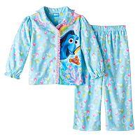 Disney / Pixar Finding Dory Nemo Toddler Girl Shirt & Pants Pajama Set