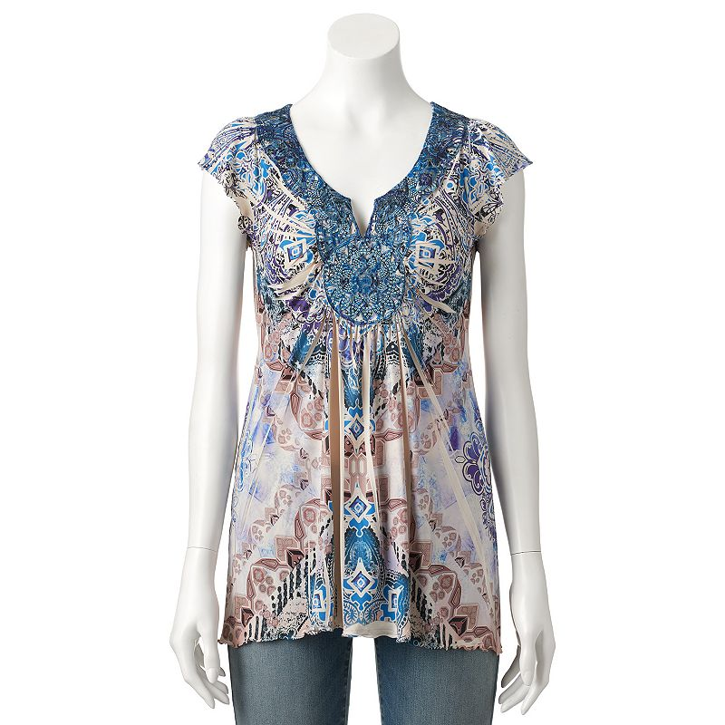Women's World Unity Sublimation Medallion Top
