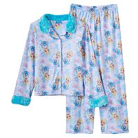 Disney's Frozen Elsa Girls 4-10 Winter Button-Front Pajama Set
