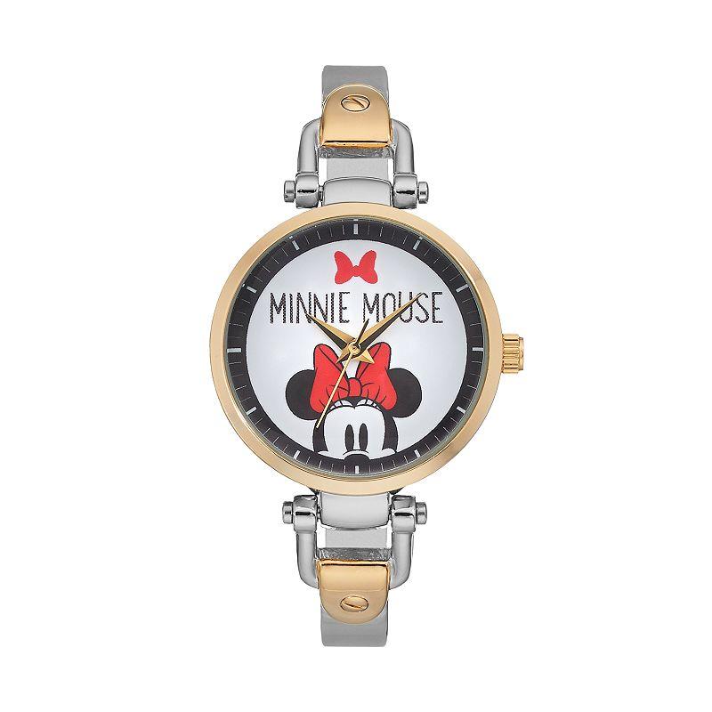 Disney's Minnie Mouse Women's Two Tone Half Bangle Watch