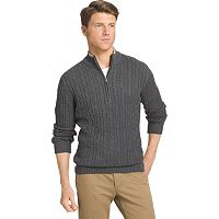 Big & Tall IZOD Classic-Fit 7GG Cable-Knit Quarter-Zip Sweater
