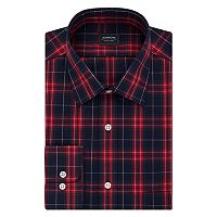 Big & Tall Arrow Regular-Fit Poplin Wrinkle-Free Dress Shirt