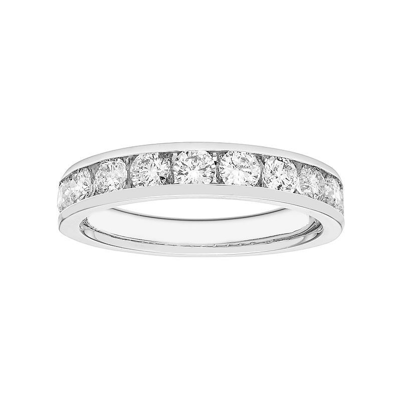 14k White Gold 1 Carat T.W. Diamond Anniversary Ring