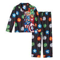 Boys 8-20 Marvel Avengers 2-Piece Flannel Pajama Set