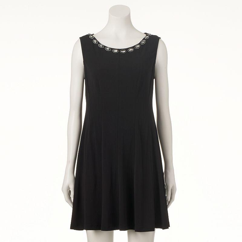 Women's Connected Apparel Embellished Shift Dress