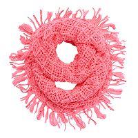 Girls 4-16 Sequin Fringe Knit Infinity Scarf