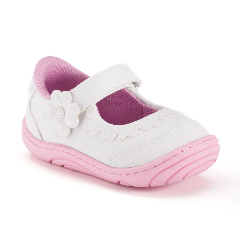 Stride Rite Alda Baby / Toddler Girls' Mary Jane Shoes, Size: 3T, White thumbnail