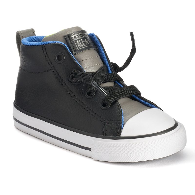 Toddler Converse All Star Street Mid-Top Leather Sneakers