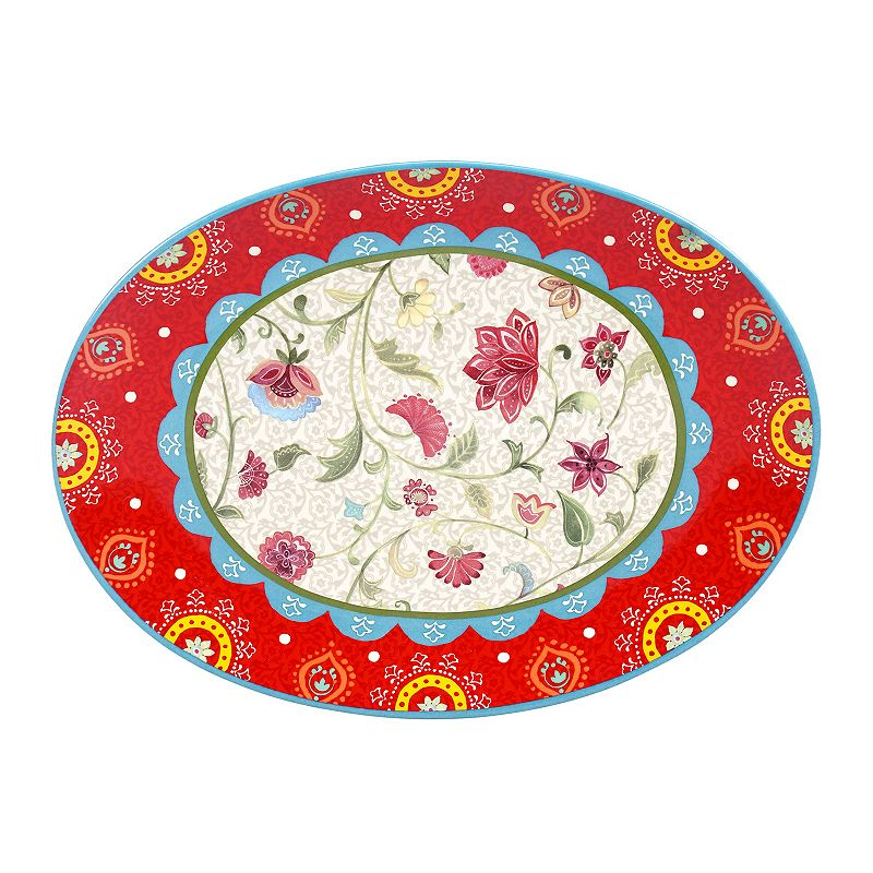 Certified International Anabelle Oval Serving Platter