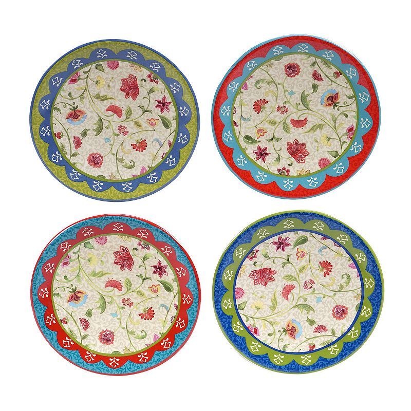 Certified International Anabelle 4-pc. Appetizer Plate Set