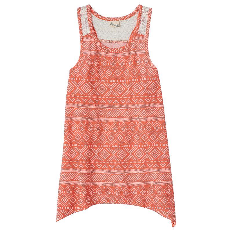 Girls 7-16 Mudd® Crochet Racerback Swing Tank Top
