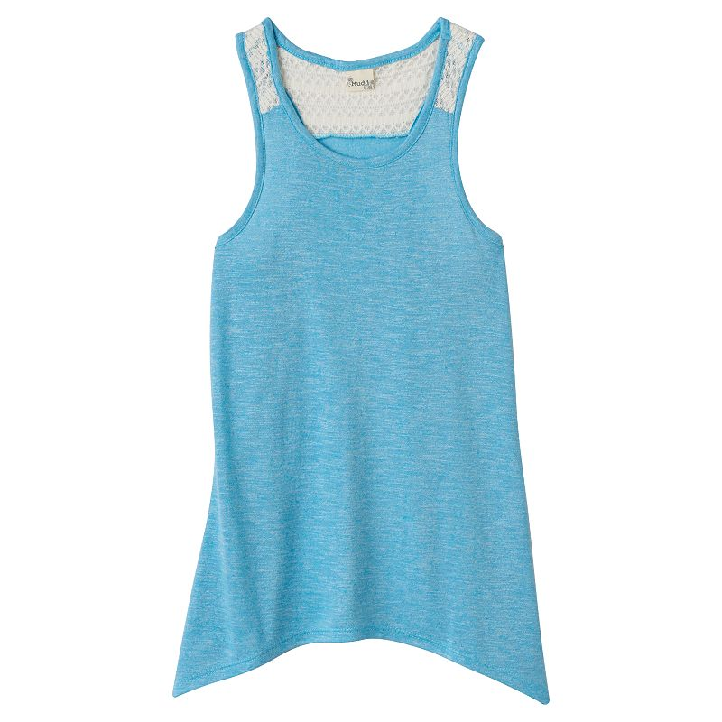 Girls 7-16 Mudd® Crochet Racerback Swing Tank Top