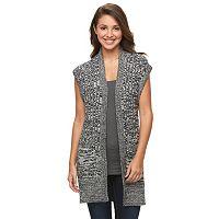 Petite Croft & Barrow® Cozy Ribbed Sweater Vest