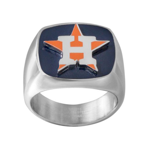 Men's Stainless Steel Houston Astros Ring
