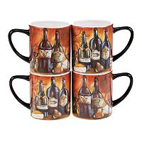 Certified International Private Reserve 4-pc. Mug Set