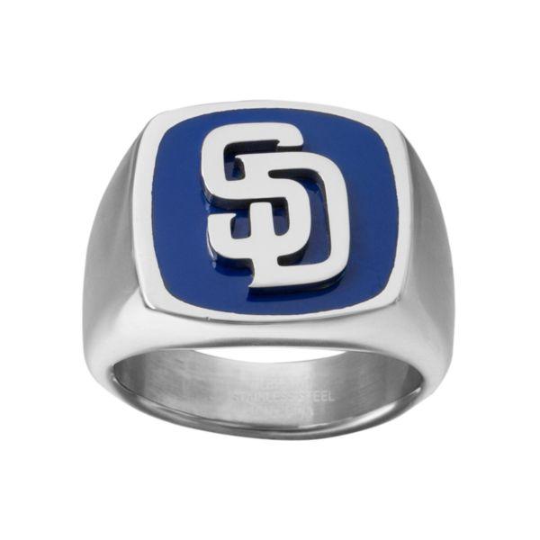Men's Stainless Steel San Diego Padres Ring