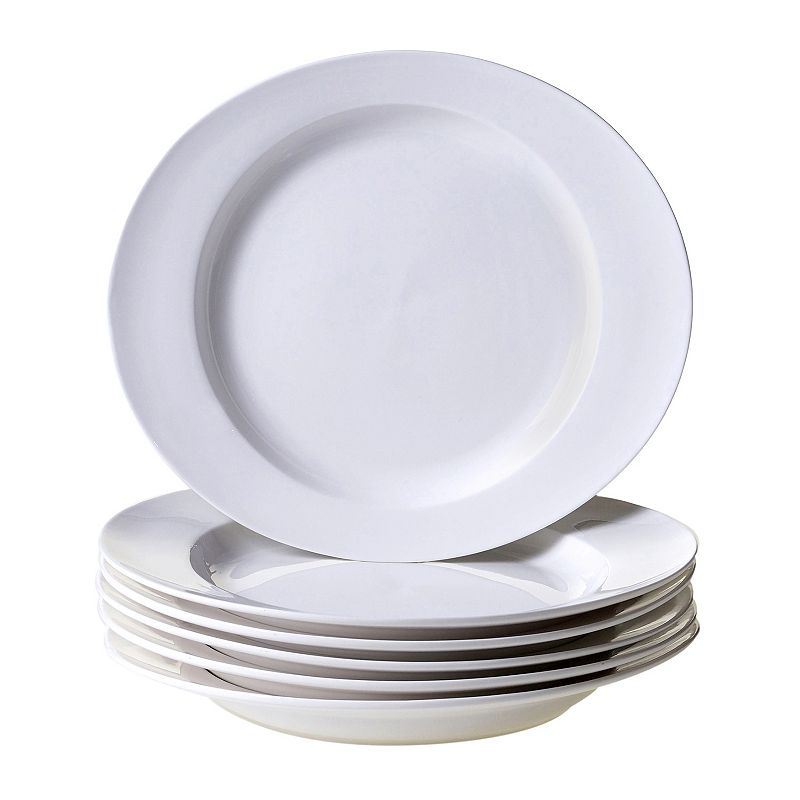 Certified International Ellipse 6-pc. Porcelain Dinner Plate Set
