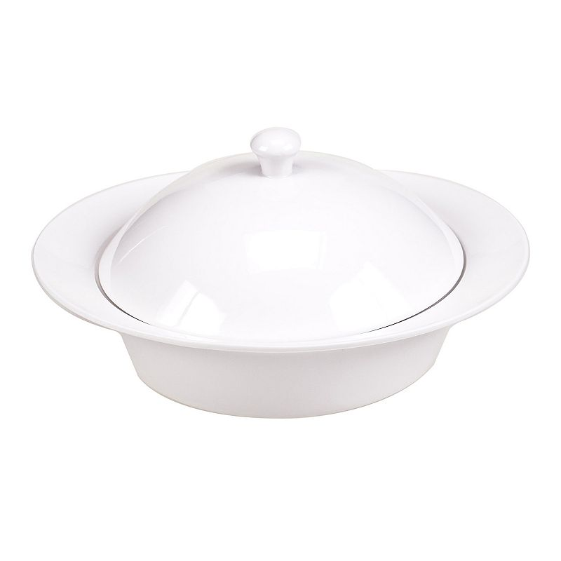 Certified International Ellipse 2-qt. Covered Porcelain Round Baking Dish
