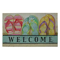 Mohawk® Home Flip Flops ''Welcome'' Doormat - 18'' x 30''