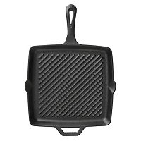 Camp Chef 11-in. Ribbed Square Cast-Iron Skillet