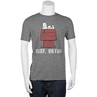 Big & Tall Peanuts Snoopy ''Sleep. Big Fan.'' Tee